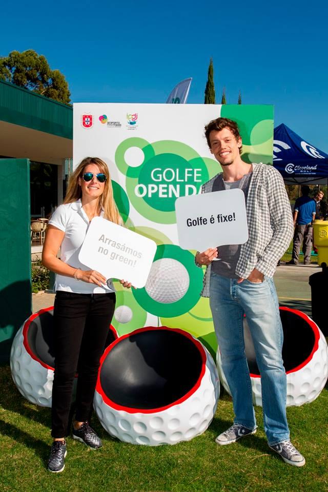 Golfe Open Day reuniu mais de 300 no Jamor. Entre os visitantes estiveram os atletas olímpicos Joana Pratas (vela), Arnaldo Abrantes (atletismo) e Gonçalo Carvalho (hipismo)