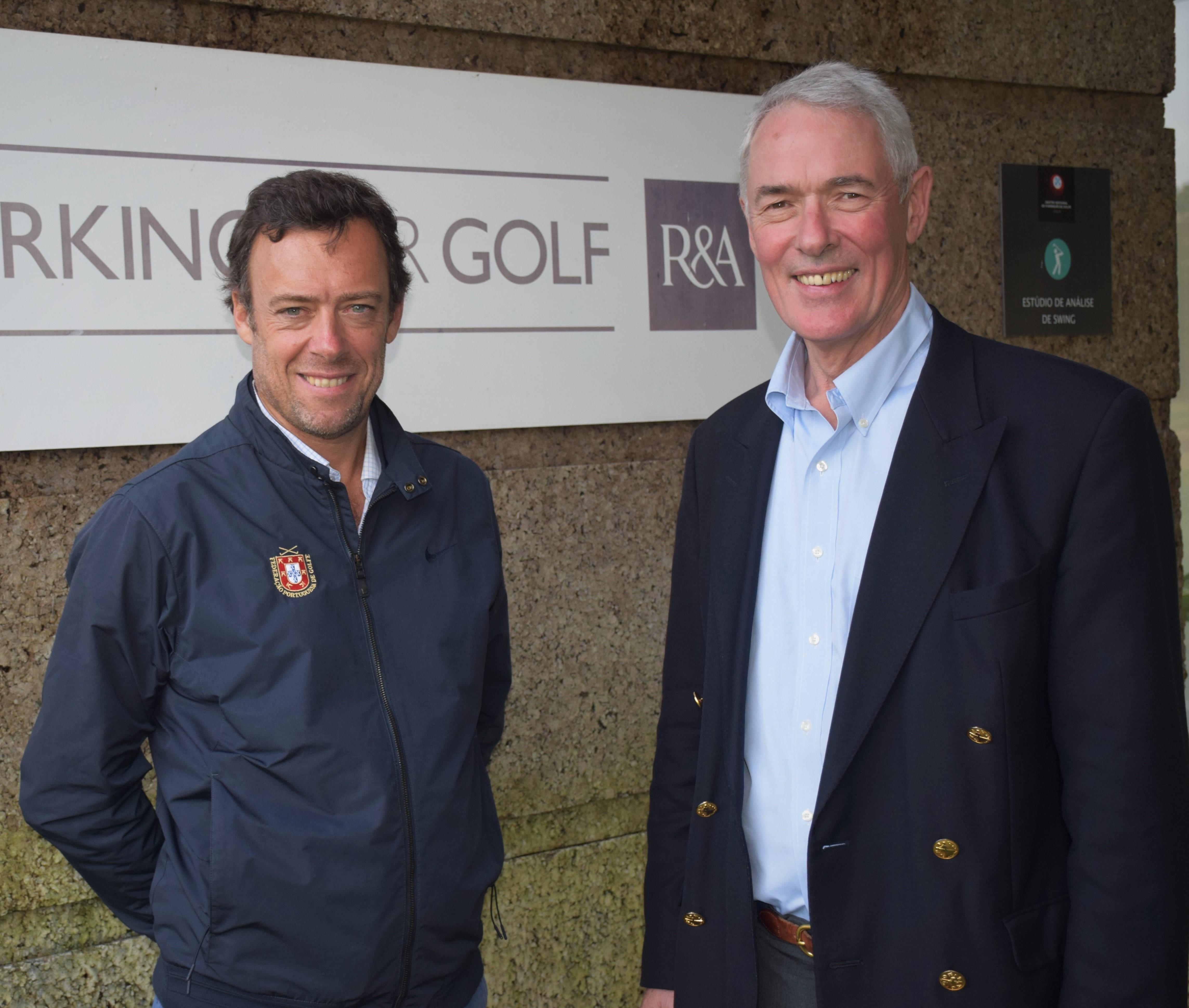 Chris Hilton, Capitão do Royal and Ancient Golf Club of St. Andrews, visita Jamor