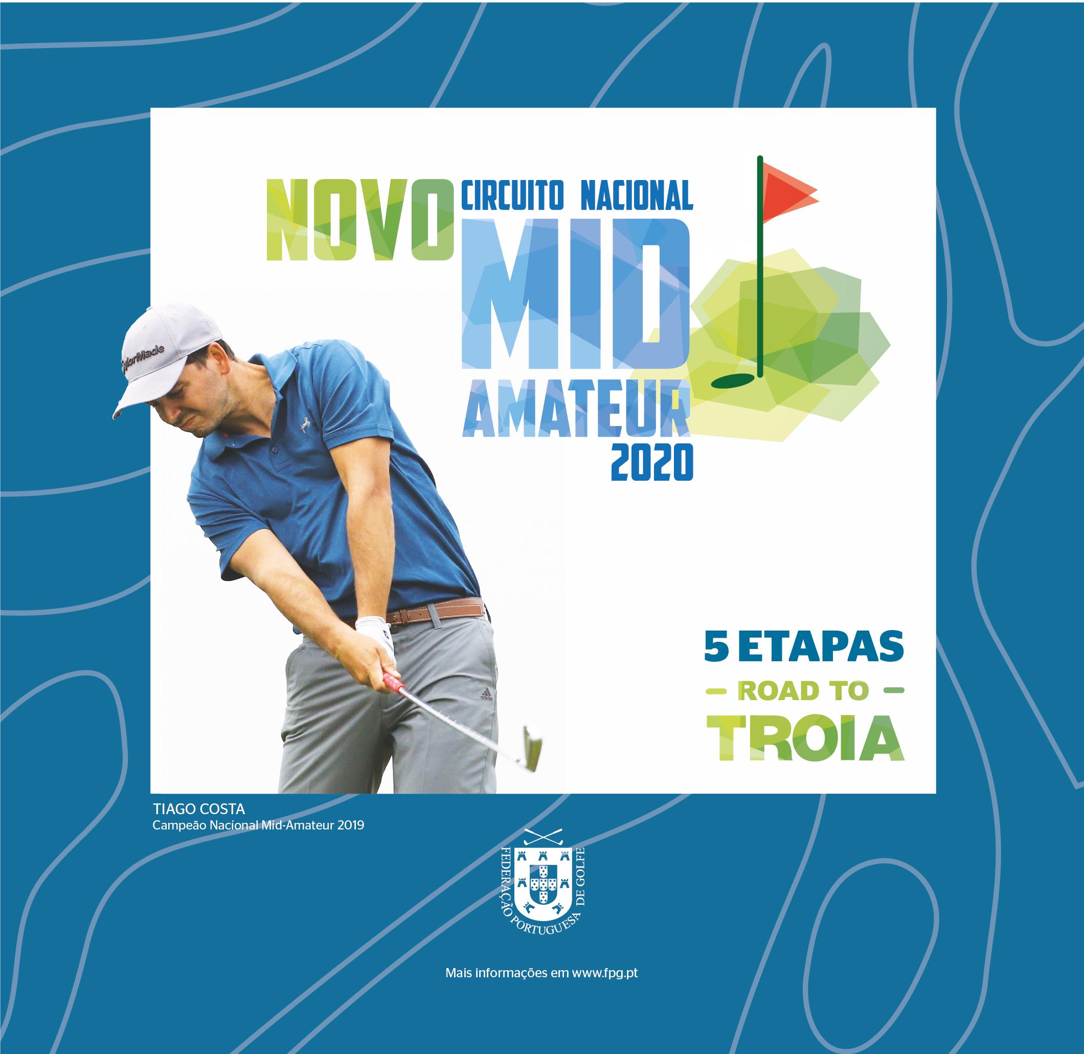 Federação Portuguesa de Golfe lança novo Circuito Nacional Mid-Amateur